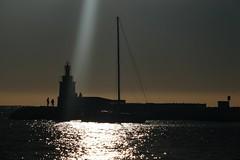 raggio di sole (fotomie2009) Tags: faro lighthouse sunbeam raggio luce sanary france francia provence provenza sea mare clouds nuvole silhouettes sanarysurmer scape paesaggio