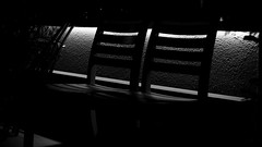... after the last guests left (dl1ydn) Tags: dl1ydn stühle restaurant bw manuell manualfocus carlzeiss planar 50mmf14 chairs night turkey monochrome