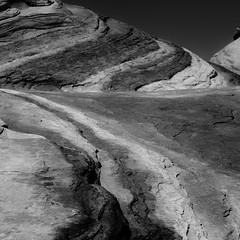 Desert Lands 003 (noahbw) Tags: d5000 firewave nv nevada nikon valleyoffirestatepark abstract blackwhite blackandwhite bw desert erosion landscape monochrome natural noahbw patterns rock spring square stone