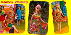 BOUNCY~FLOUNCY! (ModBarbieLover) Tags: bouncy flouncy 1967 barbie mod vintage mattel toys spring 1960s htfoutfit fashion blonde tnt doll dress flowers floral print