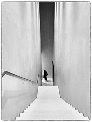 Downstairs (bhs-photo) Tags: bnw monochrome museum cologne minimal architecture kolumba staircase noiretblanc leicaq