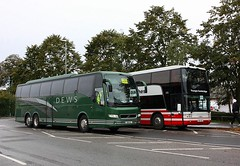 Rail Replacement at Ely (Chris Baines) Tags: dews coaches somersham volvo triaxle dew 5s youngs cambridge vanhool astromega ycc k18 ely rail replacement