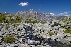 A small creek (Tjaldur66) Tags: mountains peak rocks creek wilderness penuriousness outdoor hiking alpine alpinepass swissalps switzerland splügenpass passodellaspluga graubünden grisons travel