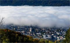 Kirchdorf im Nebel (robert.pechmann) Tags: herbstnebel kirchdorf nebel herbststimmung