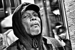 Chef - River North (draketoulouse) Tags: chicago portrait street streetphotography people man state blackandwhite monochrome city night urban