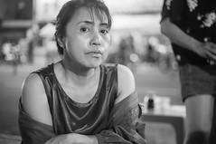 (kuuan) Tags: mf manualfocus penf zuiko penff1440mm 1440mm apsc sonynex5n vietnam saigon night street portrait lady woman bw