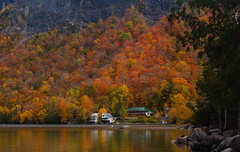 Reflecting on autumn's fall foliage (LEXPIX_) Tags: fall autumn foliage image scene scenery pic picture photo water lake lakefront hillside mountainside rural country nek nikon d850 70200 f28 lexpix