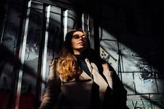 Anna, Autumn (ewitsoe) Tags: anna portrait session street warszawa erikwitsoe poland urban warsaw mood cinematic woman female beautiful darkhair longhair autumnwear coat scarf urbanmood fashion