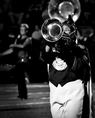 Playing to the Stands (loufsmith) Tags: nikon loufsmith band marchingband blackandwhite bw alabama
