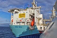 Aoka Mizu 11-10-2019 (Iain Maciver SY) Tags: hurricaneenergy oil oilexploration oilindustry fpso sea vessel grampiansovereign scotland lancasterfield supplyvessel psv maritime marine