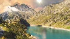Last days of summer (Luc1659) Tags: valbondione alpi italy landscape sky panorama montagne lago diga sole passeggiata