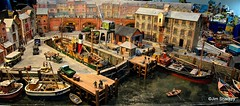 St Georges dock part of train diorama at Johnstone model rail show (herr flick A700) Tags: sony johnstone modeltrains diorama sonya7m3 trains models