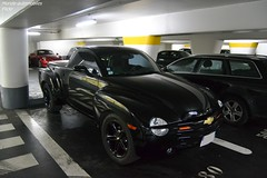 Chevrolet SSR (Monde-Auto Passion Photos) Tags: voiture vehicule auto automobile cars chevrolet ssr pickup noir black sportive rare rareté v8 parking vendome france paris