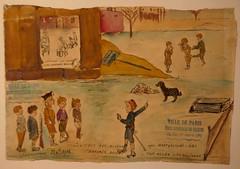 Guerre 1914-1918, dessin d'enfant, musée Montmartre, rue Cortot, Paris XVIIIe, France. (byb64) Tags: paris parigi париж باريس îledefrance france francia frankreich europe europa eu ue montmartre buttemontmartre muséemontmartre musée museo museum amisduvieuxmontmartre dessin drawing dibujo premièreguerremondiale wwi 1418 19141918 enfant child children chico ragazzo guerre war guerra krieg