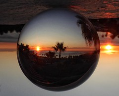 Sunrise (Andreadm66) Tags: sea sunrise lens spain view fuengirola lensball ball crystal crystalball