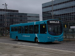 Arriva VDL SB200 (Wright Pulsar 2) 3878 MX13 AMV (Alex S. Transport Photography) Tags: bus outdoor road vehicle arriva arrivatheshires arrivamidlands db wright pulsar vdl sb200 route5 3878 mx13amv