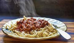Fetuccine With Garlic & Mushroom Sauce (☼☼ Jo Zimny Photos☼☼) Tags: food lunch steaming ddc shizandra fettucine pasta sauce fork plate