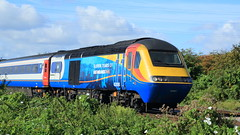 ( EMR ) / BR ( BREL Crewe / Paxman VP185 ), Inter-City 125 HST Set Power Car, Class 43/0,  43 081 (DC-7C) Tags: diesel loco locomotive train multipleunit dmu railway br brel crewe paxman vp185 eastmidlands trains railways emt emr intercity 125 highspeed hst class 43 430 bobo 43081 comemorative scheme 11yearsof attenborough nottinghamshire a44k0405