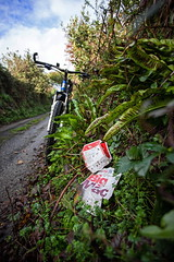 IMG_2065-1 (Photopedaler) Tags: cornishcycling bicycle countrylanes litter trash mcdonalds bigmac
