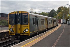 Merseyrail 508136 (Mike McNiven) Tags: sercoabellio merseyrail merseyside birkenhead liverpool central chester pep emu electric multipleunit 3rdrail