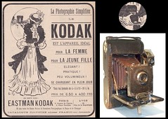 No 3 Folding Pocket Kodak camera and ad . (camera.etcetera) Tags: folding pocket kodak camera france ad advertisement