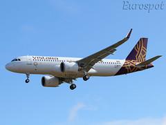 F-WWDK Airbus A320 Neo Vistara (@Eurospot) Tags: lfbo toulouse blagnac fwwdk vttnq airbus a320 neo vistara 9277