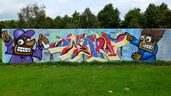 Prinsenpark - R.I.P Dwarf (oerendhard1) Tags: graffiti streetart urban art rotterdam oerendhard prinsenpark rip dwarf buss 010 honor
