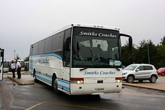 Smiths of Blofied at Ely (Chris Baines) Tags: smiths blofield volvo b12m vanhool yj51 skx rail replacement ely