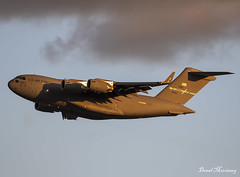 USAF C-17A 06-6167 (birrlad) Tags: jfk nyc aircraft aviation airport airplane un unga summit meeting vip usaf airforce military reach boeing c17 c17a globemaster takeoff departing departure climbing runway sunlight sunset evening