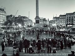 XR Candlelit Vigil (garryknight) Tags: london on1photoraw iphone mono monochrome blackwhite themonoseries xr extinctionrebellion political politics protest environment globalwarming environmentalbreakdown candlelitvigil trafalgarsquare