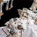 NASA astronaut Andrew Morgan waves to the camera