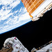 NASA astronaut Andrew Morgan works on the Port 6 truss segment