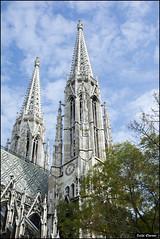 Votivkirche in Vienna - IZE_1492 (Zachi Evenor) Tags: zachievenor gothic votivkirche vienna austria gothicarchitecture church 20141022 גותיקה אדריכלותגותית פוטיפקירכה ווטיפקירכה וינה אוסטריה כנסייה כנסיה