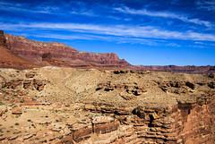 Beautiful Arizona Sky (Buck--Fever) Tags: arizona arizonaskies arizonadesert arizonawonders earthnaturelife navajobridge coloradoriver bluesky northernarizona marblecanyon