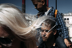 Blonde (markfly1) Tags: woman hair blonde flyaway street candid image nofinder curved platinum photography venice italy st marks square san marco child children kid nikon d750 35mm manual focus lens