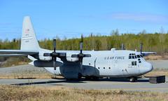 C-130   64-0541   ANC   20150511 (Wally.H) Tags: lockheed l100 hercules c130 640541 usaf usairforce unitedstatesairforce anc panc anchorage airport