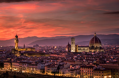 Firenze (Vianney Rudent) Tags: florence firenze italia italy italie voyage sunset piazzale michelangelo toscane tuscany coucherdesoleil colors love magic travel nikon nikond810