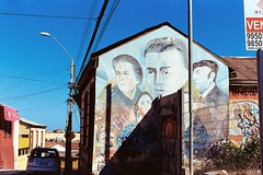 (Yutaka Seki) Tags: laserena chile southamerica travel mural wall building house dwelling gabrielamistral violetaparra pabloneruda pentaxmesuper film analogue kodakportra400 unicolorpresskit pakonf135 highlights shadows famous poet musician politician diplomat