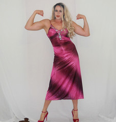 At it again... (queen.catch) Tags: catchqueenyoutube catchqueen dress eveningdress promdress heels anklestraps makeup glam crossdressing dragqueen shemale shinylycra doublebicep biceps muscles fitness