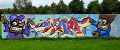 Prinsenpark - R.I.P. Dwarf (oerendhard1) Tags: graffiti streetart urban art rotterdam oerendhard prinsenpark rip dwarf buss 010 honor