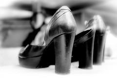 In a row (vale0065) Tags: shoes shoenen schoe schoen pump heels hakken hoge high ladies vrouwen leather leer rij row depaniek kattendijkdok eilandje antwerpen antwerp timecircus summerbar zomerbar belgium belgië scheldt schelde bar