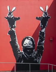 Street Art (RedPlanetClaire) Tags: stavanger norway norwegian cruise street art grafitti painting red wall