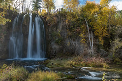 Fall at Spearfish Falls (kevin-palmer) Tags: blackhillsnationalforest fall autumn october nikond750 southdakota spearfishcanyon trees foliage color colorful savoy spearfishfalls waterfall falls flowing water tamron2470mmf28 polarizer blackhills