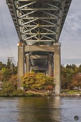 Fall Under 2019 (TheArtOfPhotographyByLouisRuth) Tags: bridge bridgephotography bridgewatergreenlandscapeoutdoorveteransmemorialparkboiseidaho nature season autumn water waterreflections nikond810