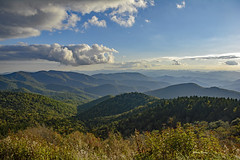 Mountain Beauty (mevans4272) Tags: parkway ridge blue trees overlook clouds sky mountains