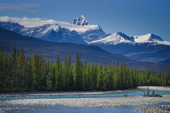 Mt. Edith Cavell (Bernie Emmons) Tags: mtedithcavell athabascariver river canada alberta blue mountains