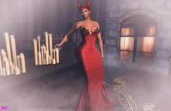 Maleficent (alexandra sunny) Tags: zk empowered treschic catwa maitreya aviglam secondlfe blog blogger fashion female woman backdrops pose red