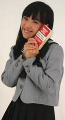 National Dictionary Day (emotiroi auranaut) Tags: girl student woman lady smile smiling smart intelligent cute pretty beauty beautiful uniform