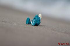 Schlumpfiges Chillen am Strand von Binz (Stefan's Gartenbahn) Tags: schlumpf verschlumpft strand see mees pause schleich smurf smurfs beach