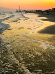 Galveston Beach 10-12-2019 (1 of 1) (Rick Byrnes) Tags: galveston sunset orange beach texasgulfcoast water wave sea gulfofmexico september galvestonseawall iphone iphone7plus 7plus lightroom